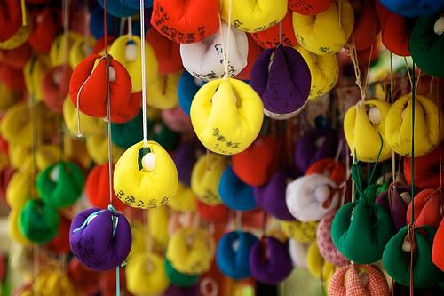 Rainbow Pendula - colorful travel photo