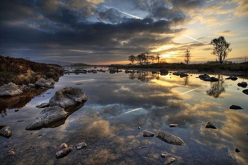 Rannoch moor early morning landscape photo