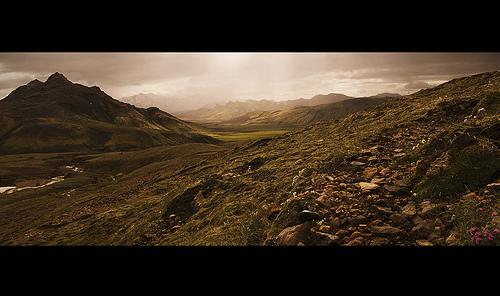 Earthy tones Icelandic landscape