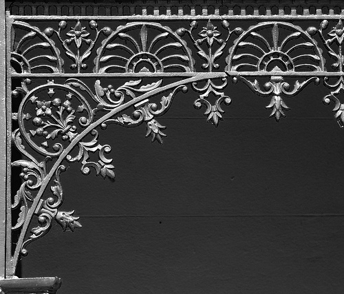 Glebe House detail (3 - B&W)