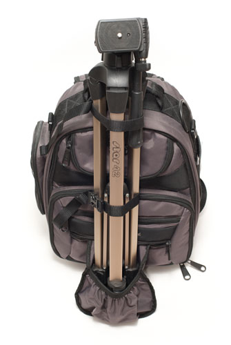 Bag with tripod attached