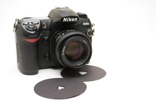 Camera with custom aperture cards