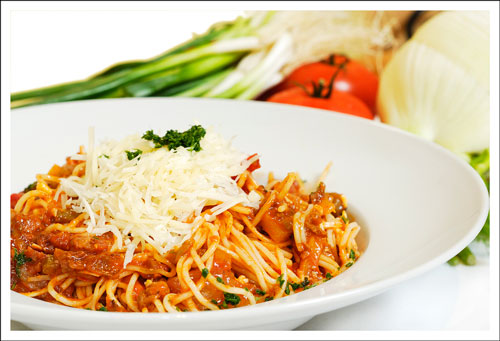 Food Photography - Spaghetti dish