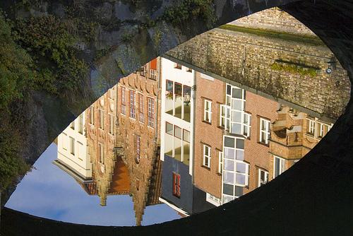 Brugge Bridge Reflection