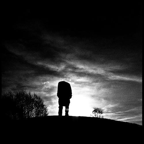 Dark silhouette photo