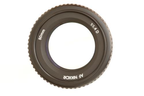 50mm/1.4 lens at f/1.4