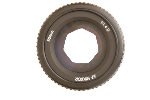 50mm/1.4 lens at f/2