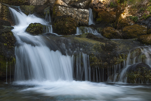 carezze - waterfall photographed using a small aperture to allow for a slow shutter speed