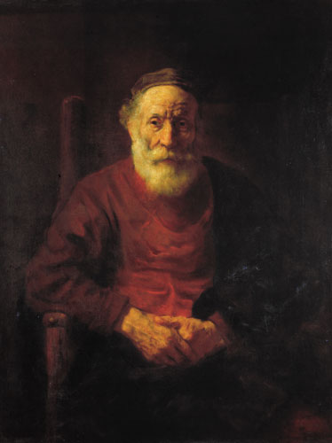 An Old Man in Red by Rembrandt van Rijn