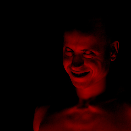 Spooky demonic portrait