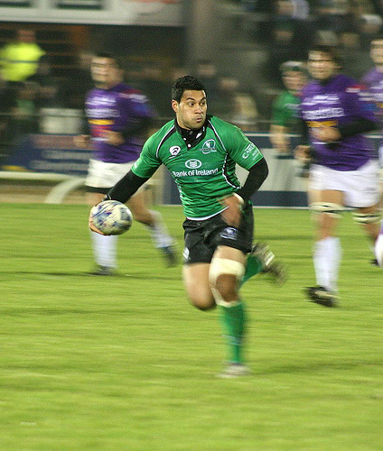 Rugby pass panning photo