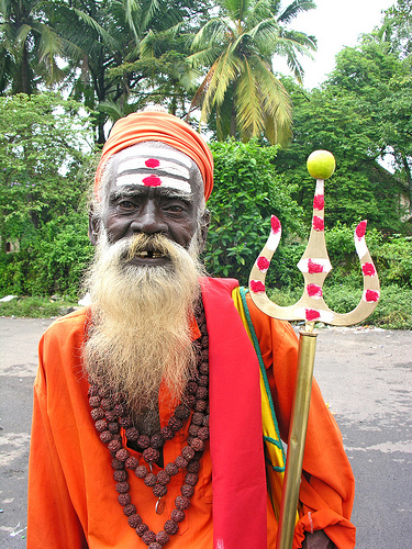 Colorful Holy man in Kochi, India