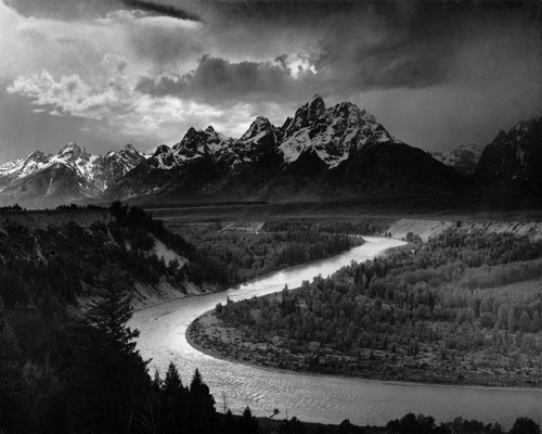 The Tetons and the Snake River by Ansel Adams (1942)