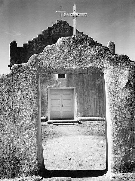 Church, Taos Pueblo by Ansel Adams (1942)