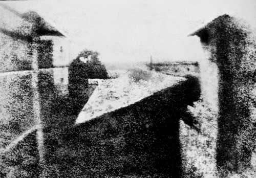 View from the Window at Le Gras by Nicéphore Niépce (1826)