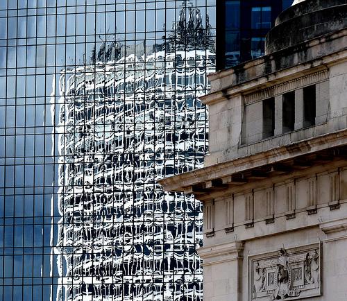 DailyShoot  ~ glass ~Old and New ~ Birmingham Symphony Hall UK