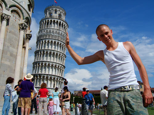 Leaning Tower of Pisa - perspective trick