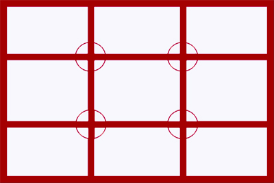 Rule of thirds gridlines