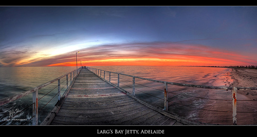 Larg's Bay Jetty, Adelaide at twilight (HDR)