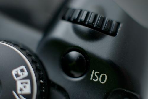 Camera ISO button