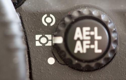 Camera exposure metering modes selector