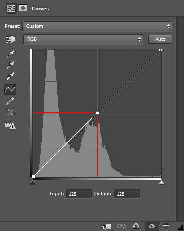 Curves adjustment dialog in Photoshop