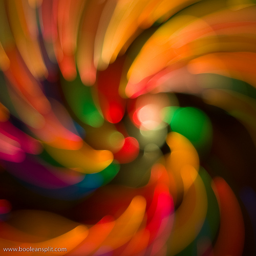 bokeh swirl zoom motion blur