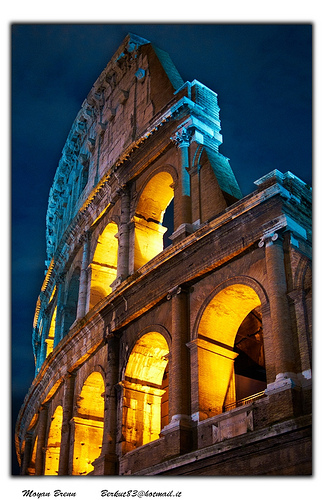 Colosseum at night - camera supported on a tripod