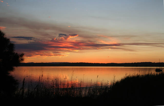 Sunset over Lake Tuggerah from Canton Beach 7