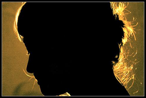 backlit golden sunset silhouette portrait