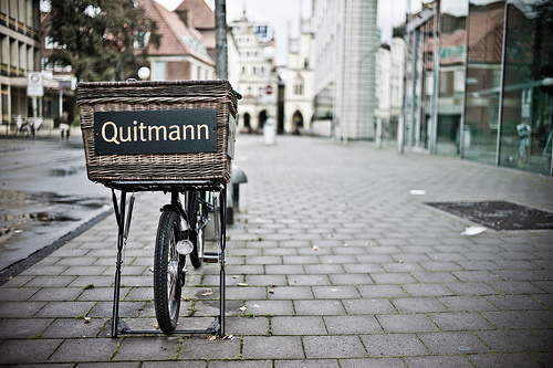 Quitmann Lastenfahrrad, photographed using a digital rangefinder camera