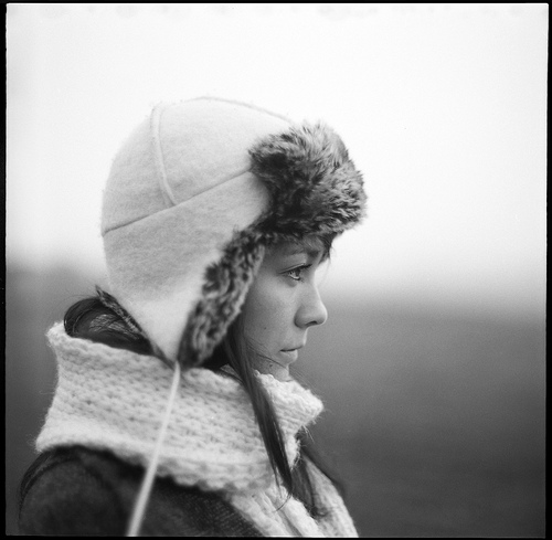 Winter Portrait film photograph