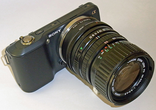 Sony Nex-3 with Canon FD 28-55mm