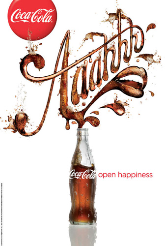 Coca Cola Aaahh Open Happiness advert