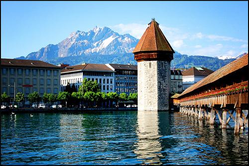 Kapellbrucke in Lucerne (edited)