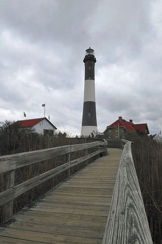 Fire Island Lighthouse, Long Island, NY, example of using hyperfocal focusing to get everything in focus