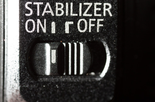 Image Stabilizer switch on a Canon lens