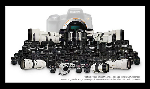 Sony alpha compatible lenses - Sony alpha cameras feature in-body IS, making all lenses image stabilized
