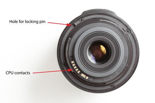 Rear of a Canon EF-S lens