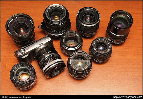 Sony NEX C3 with Old Minolta MD lens