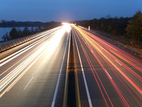 Automobile light trails