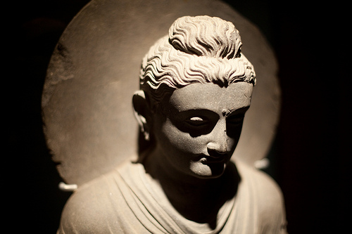 Buddha statue, photographed in a museum