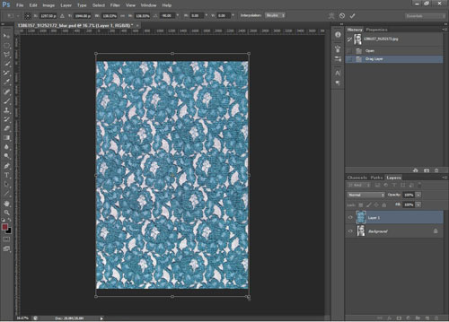 Resizing the texture layer to fill the image
