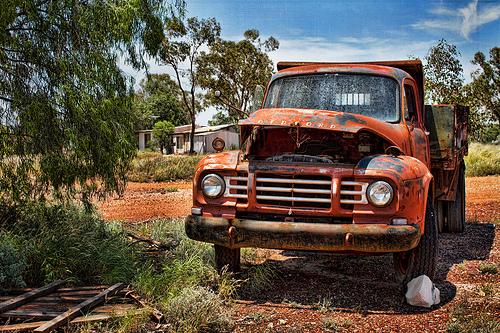 Old broken down truck