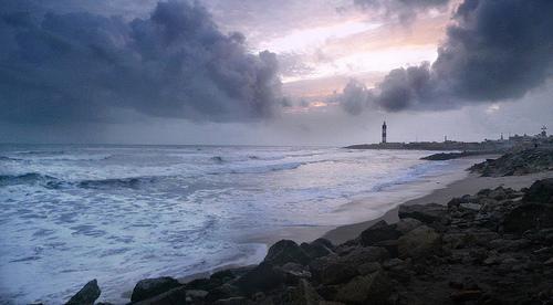 dwarka lighthouse II - self timer used