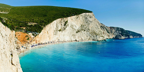 Porto Katsiki, Lefkada, Greece - stitched panorama to give a view wider than the camera could capture in a single shot