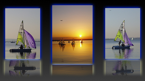 Father & Son Collaboration - Boat Triptych - multiple photos of the same subject
