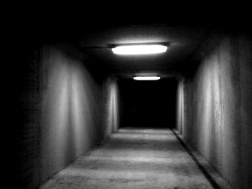 underpass - moody black & white photograph