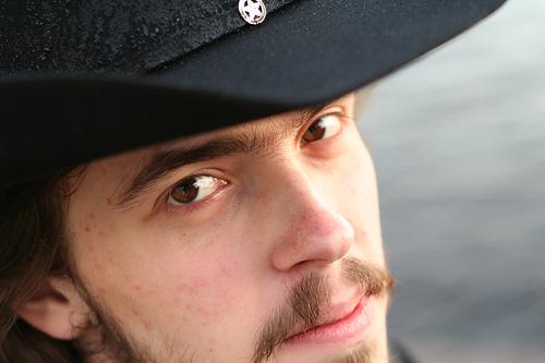 Cowboy portrait wearing a cowboy hat