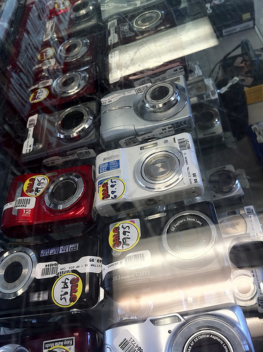 Digital Cameras in an OKC Pawn Shop